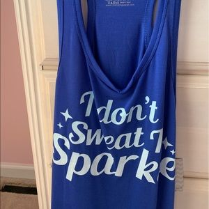 "✨ NWT ""I Don't Sweat I Sparkle"" Work-Out Tank ✨"